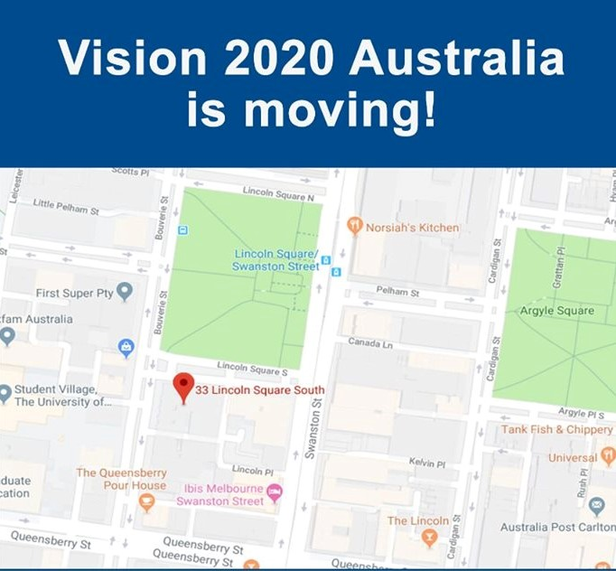 Vision 2020 Australia is moving!